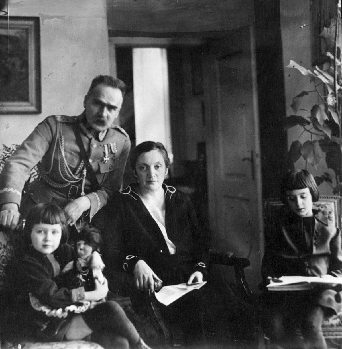 Józef Piłsudski z Aleksandrą